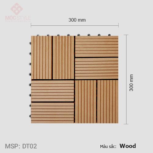 Vỉ gỗ nhựa lót sàn AWood DT02 Wood