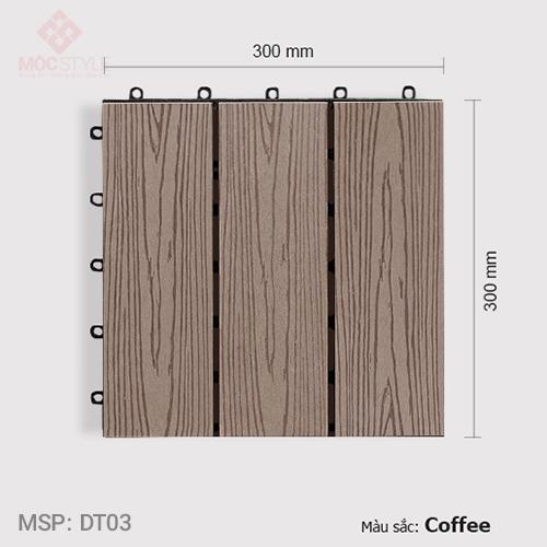 Vỉ gỗ nhựa lót sàn AWood DT03 Coffee
