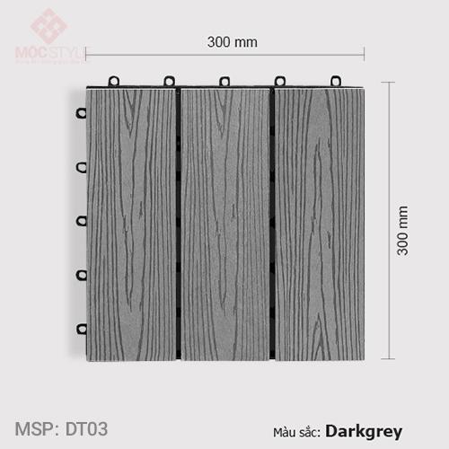 Vỉ gỗ nhựa lót sàn AWood DT03 Dark Grey