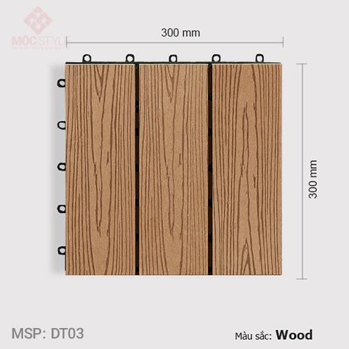 Vỉ gỗ nhựa lót sàn AWood DT03 Wood