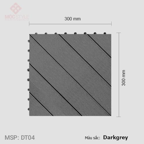 Vỉ gỗ nhựa lót sàn AWood DT04 Dark Grey