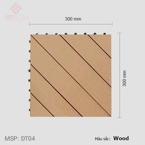 Vỉ gỗ nhựa lót sàn AWood DT04 Wood