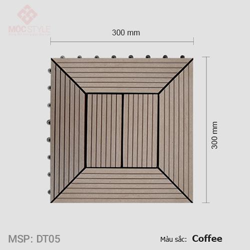 Vỉ gỗ nhựa lót sàn AWood DT05 Coffee