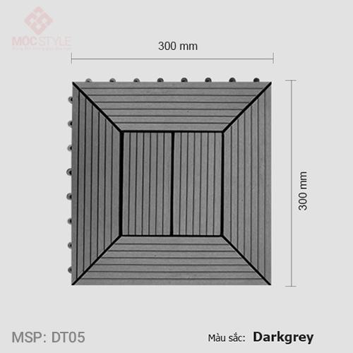 Vỉ gỗ nhựa lót sàn AWood DT05 Dark Grey