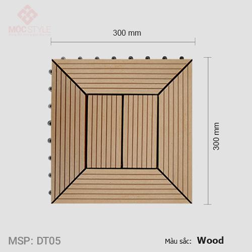 Vỉ gỗ nhựa lót sàn AWood DT05 Wood