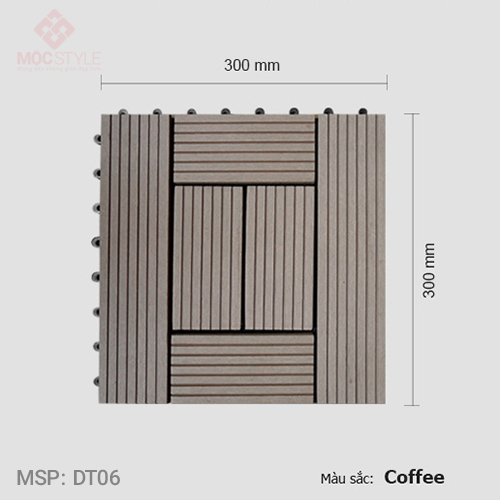Vỉ gỗ nhựa lót sàn AWood DT06 Coffee