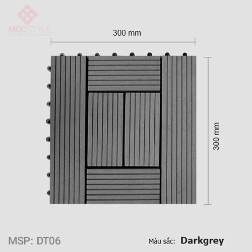 Vỉ gỗ nhựa lót sàn AWood DT06 Dark Grey