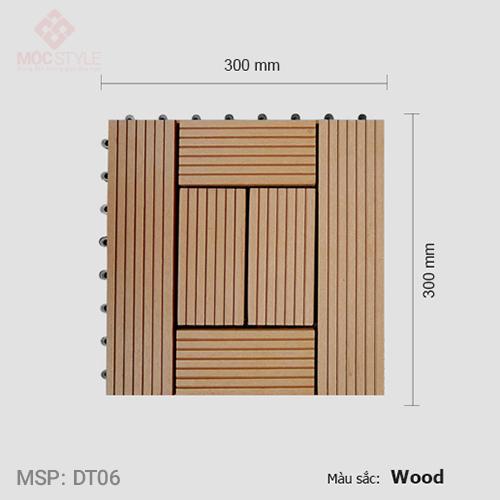 Vỉ gỗ nhựa lót sàn AWood DT06 Wood