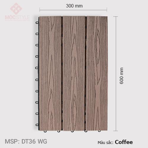 Vỉ gỗ nhựa lót sàn AWood DT36 WG Coffee