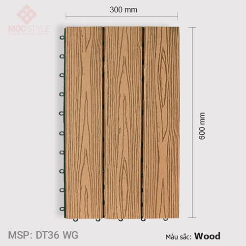 Vỉ gỗ nhựa lót sàn AWood DT36 WG Wood