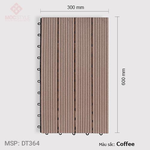 Vỉ gỗ nhựa lót sàn AWood DT364 Coffee