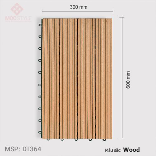 Vỉ gỗ nhựa lót sàn AWood DT364 Wood