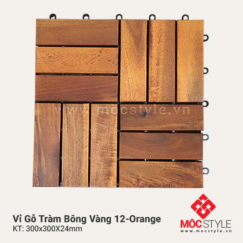 Vỉ gỗ Tràm Bông Vàng 12 Orange