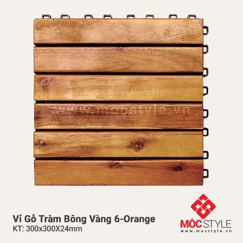 Vỉ gỗ Tràm Bông Vàng 6 Orange