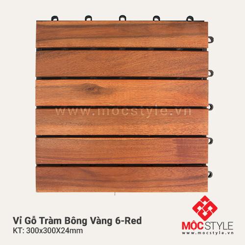 Vỉ gỗ Tràm Bông Vàng 6 Red