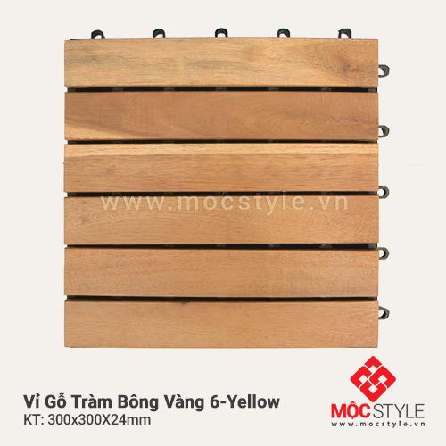 Vỉ gỗ Tràm Bông Vàng 6 Yellow