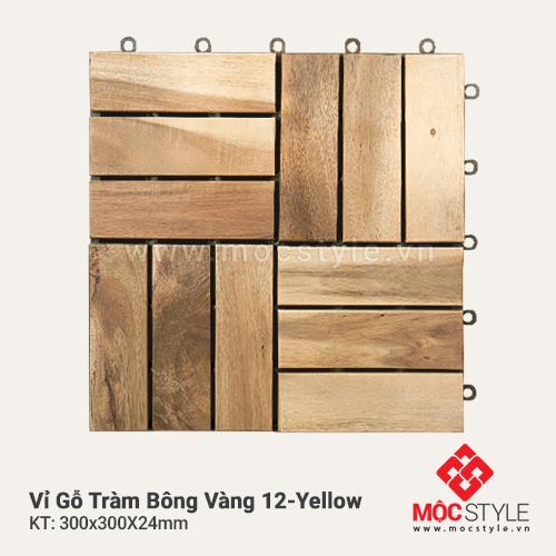 Vỉ gỗ Tràm Bông Vàng 12 Yellow