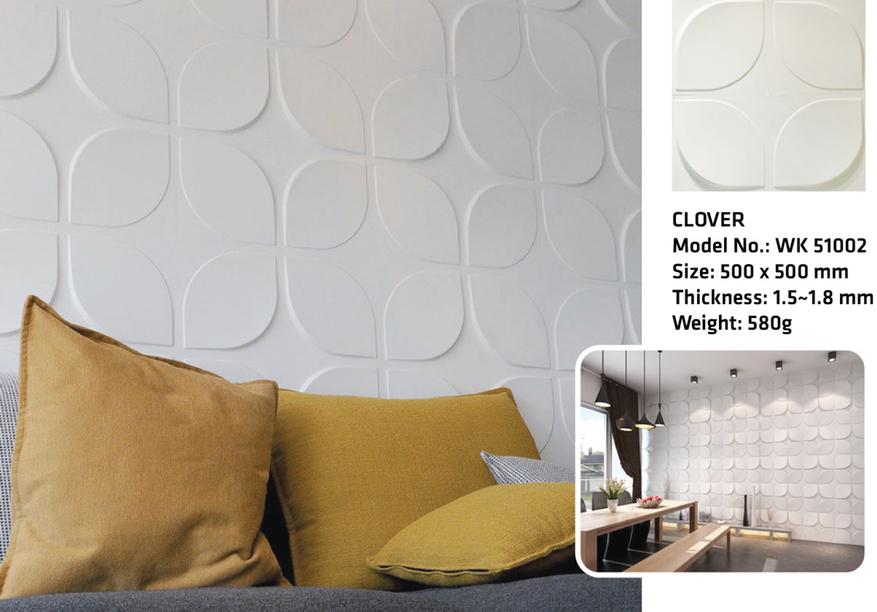 Tấm ốp tường 3D CLOVER WK 51002