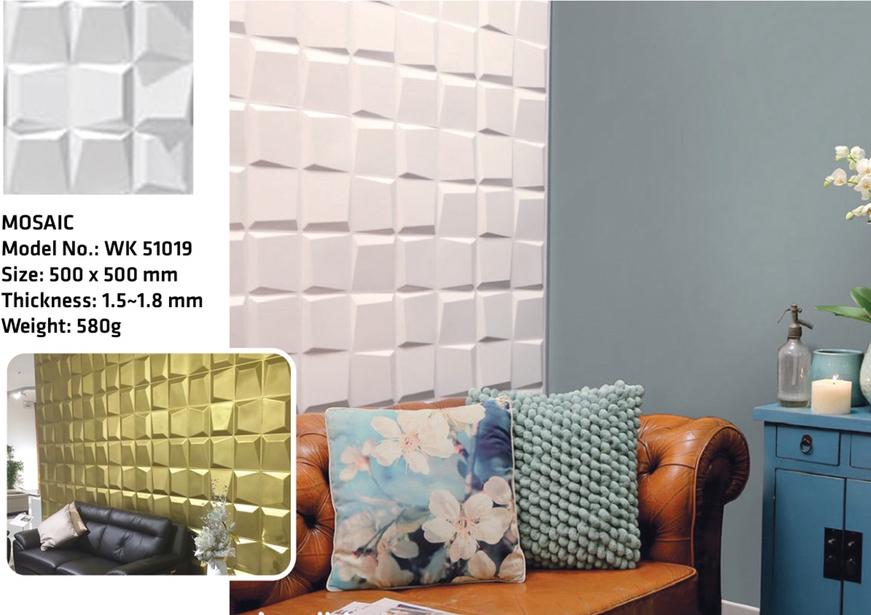Tấm ốp tường 3D MOSAIC WK51019
