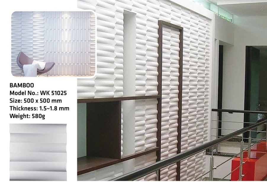Tấm ốp tường 3D BAMBO WK51025