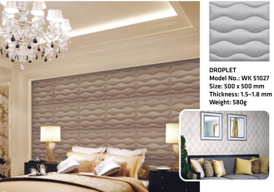Tấm ốp tường 3D DROPLET WK51027