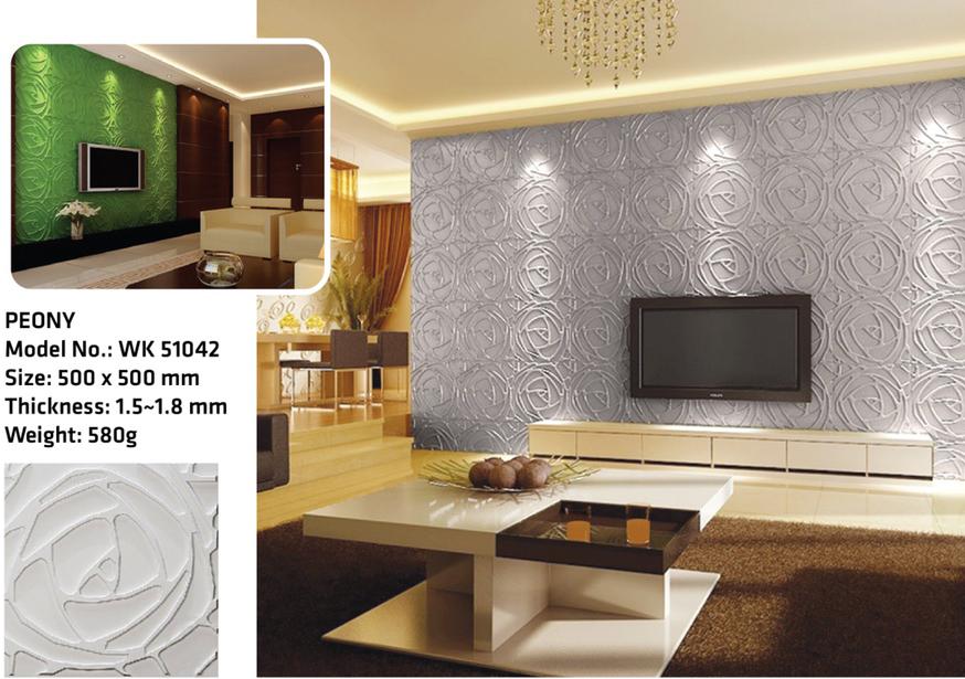 Tấm ốp tường 3D PEONY WK51042