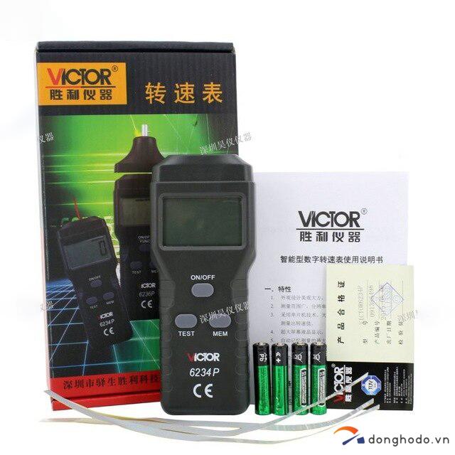 Máy đo tốc độ vòng quay động cơ laser VICTOR 6234P trọn bộ