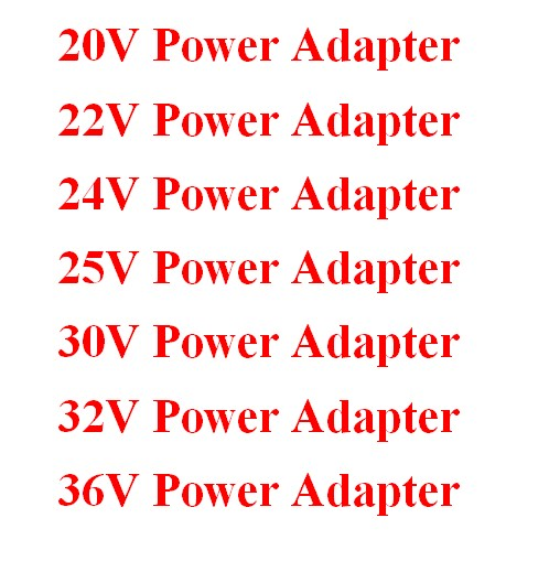 20V 22V 24V 25V 30V 32V 36V Power Adapter