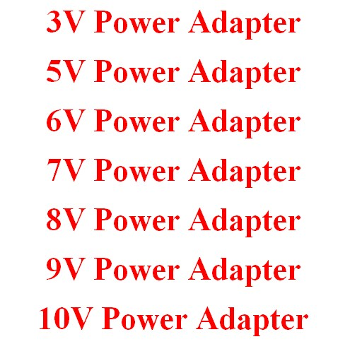 3V 5V 6V 7V 8V 9V 10V Power Adapter
