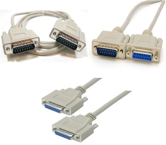 Cáp Kết Nối RS232C DB15 15Pin Hai Hàng Serial Cable