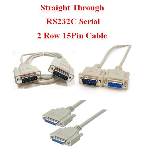 Cáp RS232C DB15 15Pin Hai Hàng Chuẩn Nối Tiếp Thẳng Serial Cable