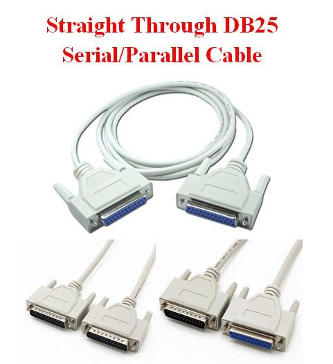 Cáp DB25 Serial LPT Parallel 1284 Chuẩn Nối Tiếp Thẳng