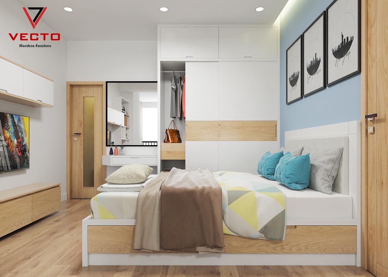 Thiết kế - Thi công nội thất Mr Cảnh - HD Mon Mỹ Đình - căn 52 m2