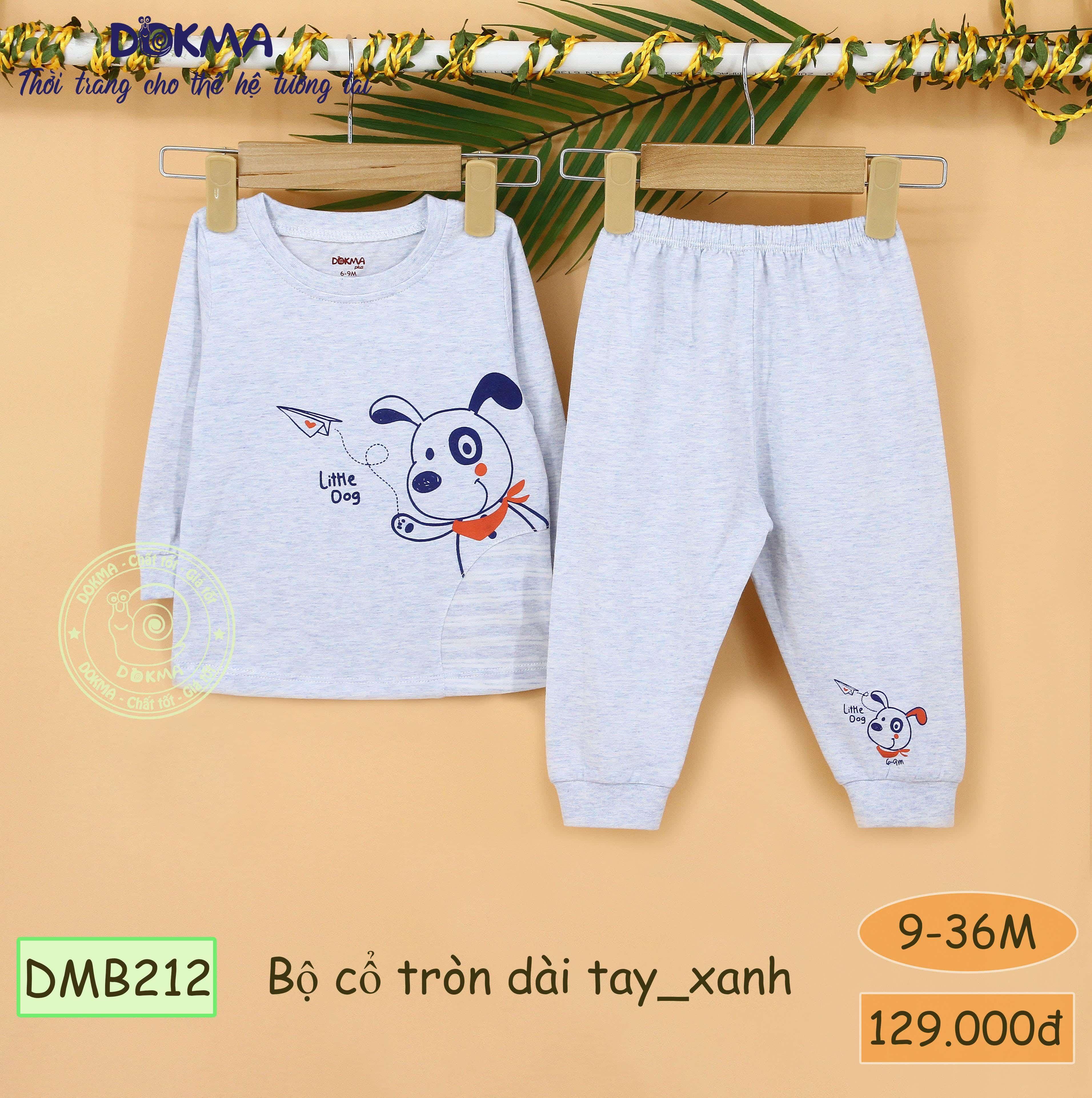DMB212 Bộ cổ tròn dài tay (9-36M) Dokma Store