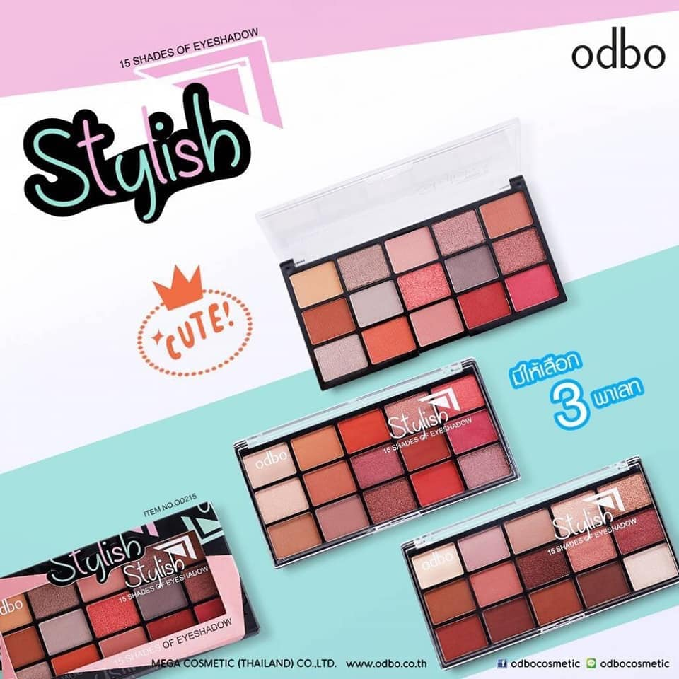 Phấn Mắt Odbo Stylish 15 Shades Of Eyeshadow OD215 3