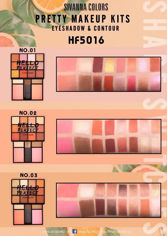3 IN 1] Set Phấn Mắt - Má Hồng - Tạo Khối Sivanna Hello Perfect HF5016 - BKSHOP