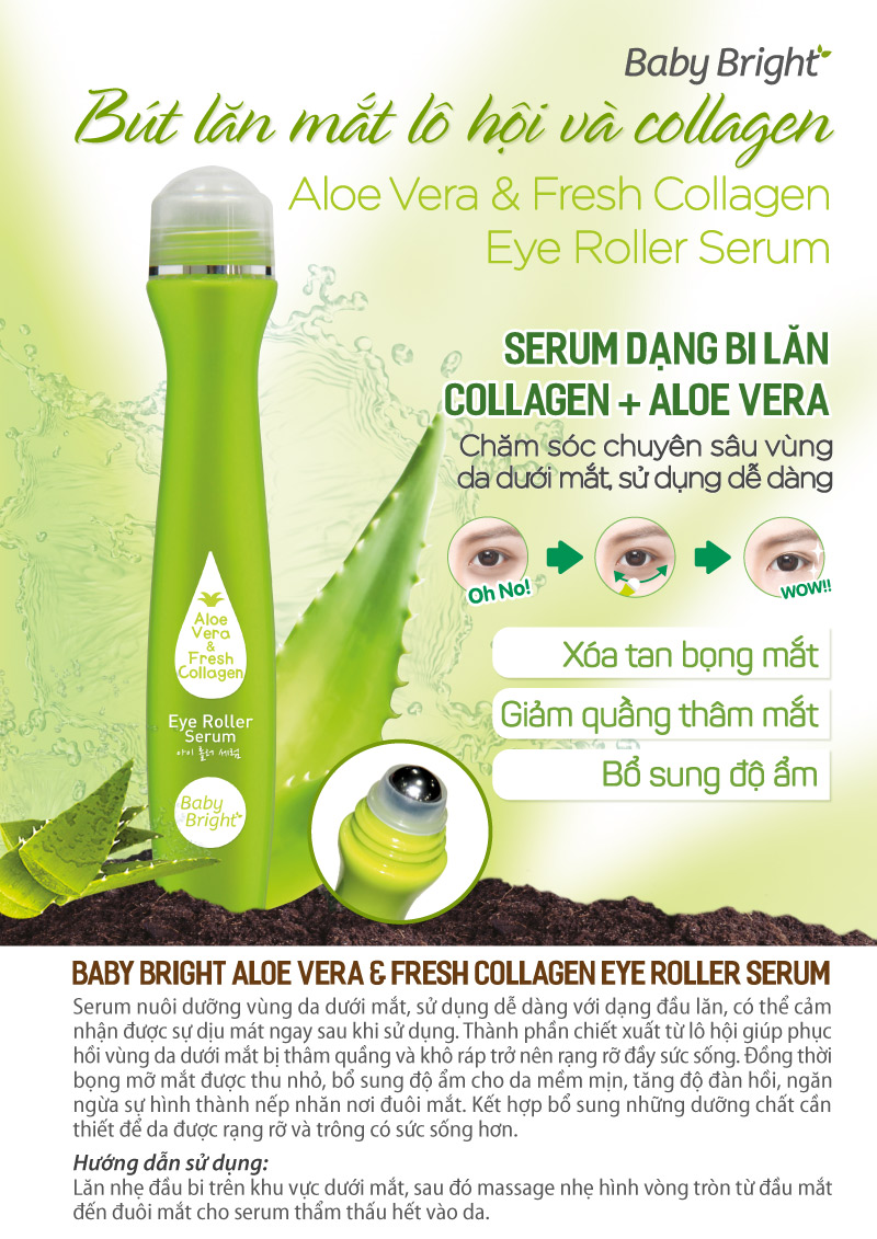 Aloe Vera Fresh Collagen Eye Roller Serum