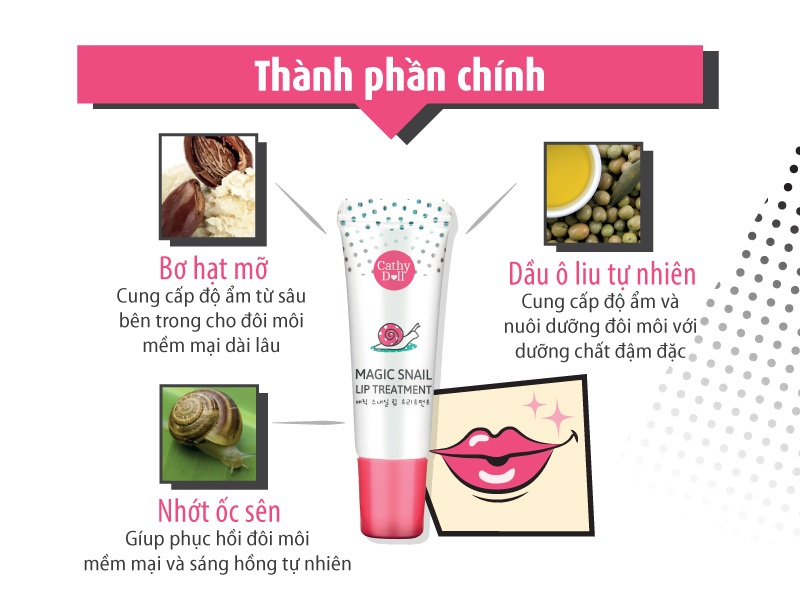 Magic Snail Lip Treatment -gel-duong-moi-oc-sen 02