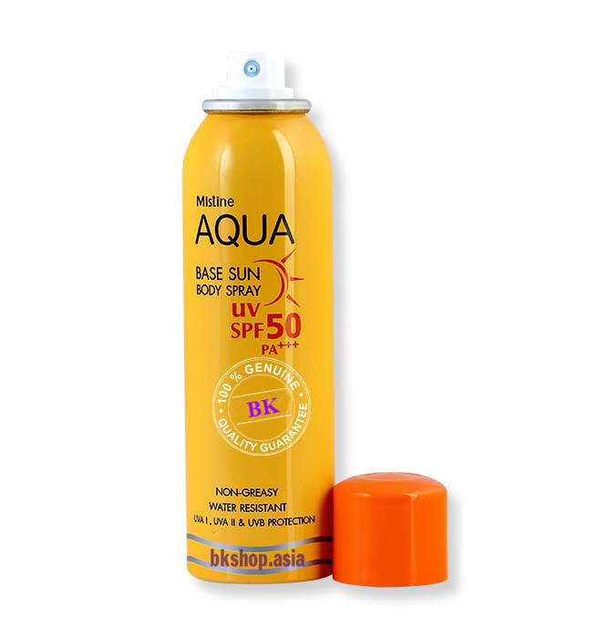Mistine Aqua Base Sun Body Spray2