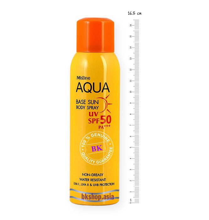 Mistine Aqua Base Sun Body Spray3
