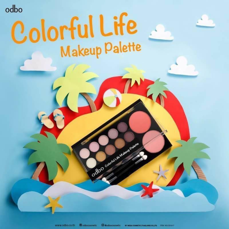 Odbo Colorful Life Makeup Palette (3)