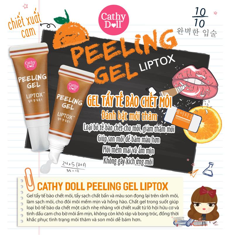 tay te bao chet moi cathy doll- Peeling Gel Liptox 01