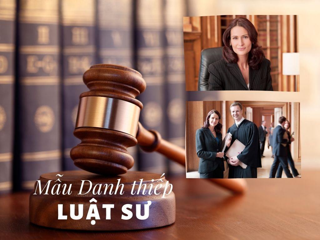Mẫu Danh thiếp Dành cho Luật Sư
