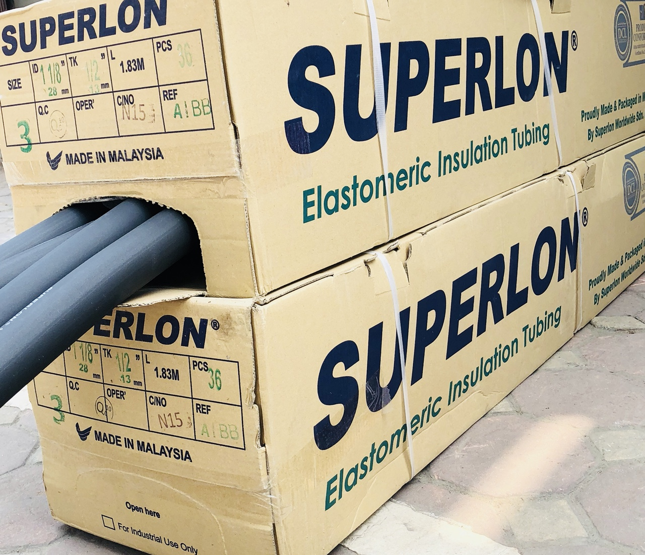 Bảo ôn cách nhiệt dạng ống Superlon