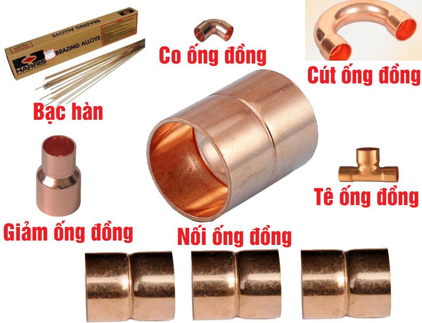 Phụ kiện kết nối ống đồng