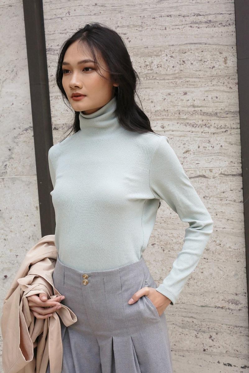 Áo len cổ cao Basic 1