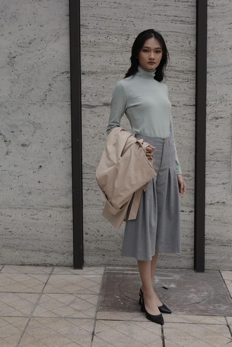 Áo len cổ cao Basic 2