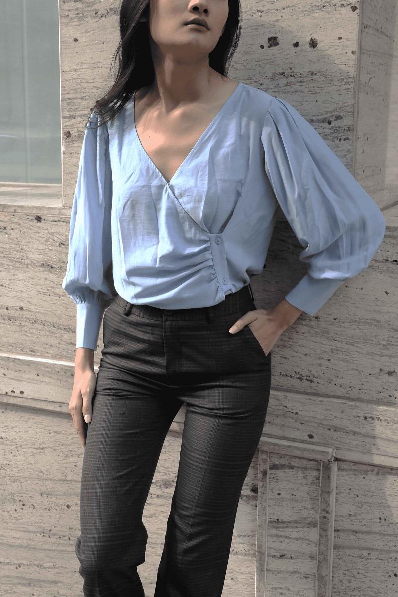 Asymmetric Button Down Shirt - Áo Nút Lệch