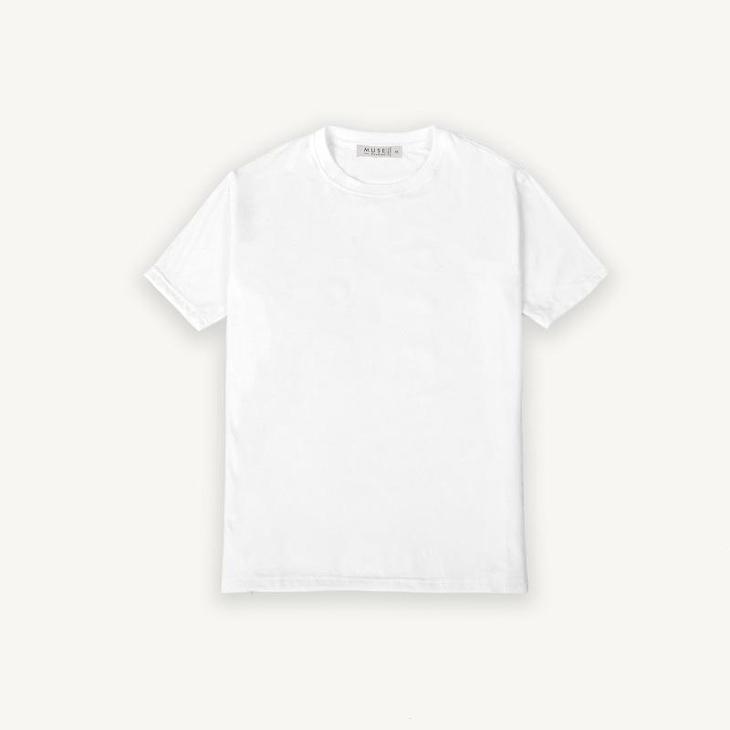 Áo thun 100% coton trắng ngắn tay 3