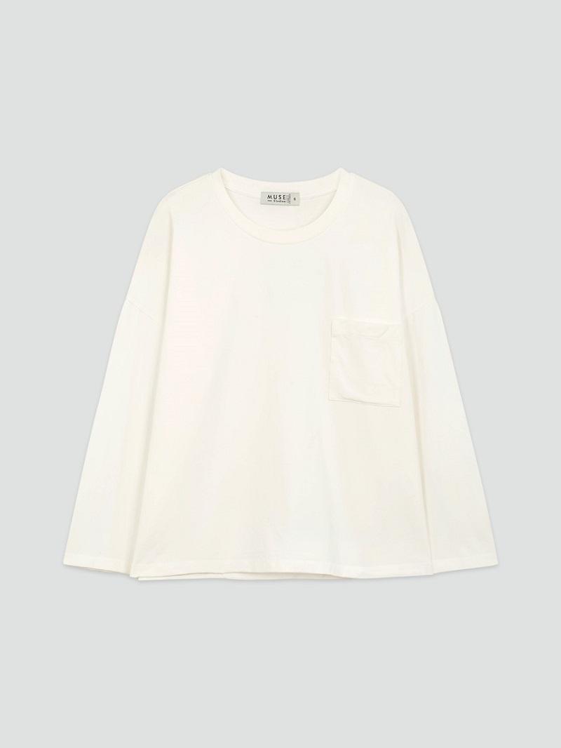 Áo thun 100% cotton trắng dài tay